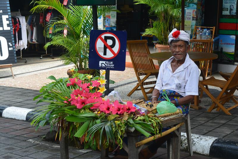 lokale Balinese oude mens royalty-vrije stock afbeeldingen