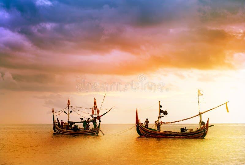 Lokale boot in Bali stock afbeelding
