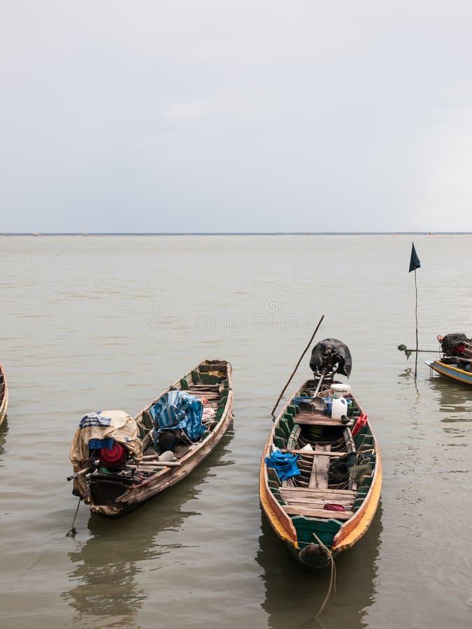 Lokale Fischerboote lizenzfreie stockfotos