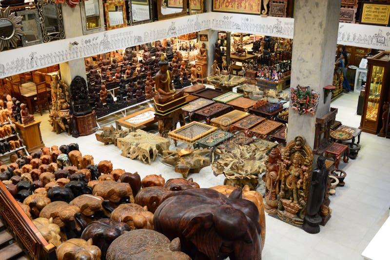Lokale herinneringswinkel kandy Sri Lanka royalty-vrije stock foto's