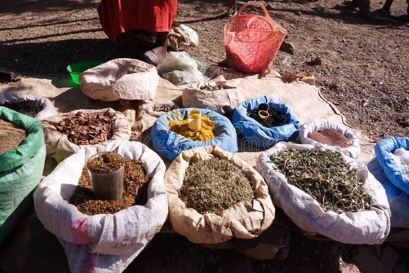 Lokale Körner für Verkauf in Lalibela lizenzfreies stockbild