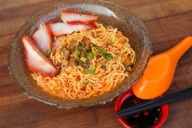 Lokale Küche Kolo Mee in Kuching, Sarawak, Malaysia lizenzfreie stockfotografie