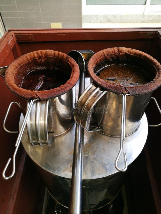 lokale koffie en thee Thailand royalty-vrije stock afbeelding