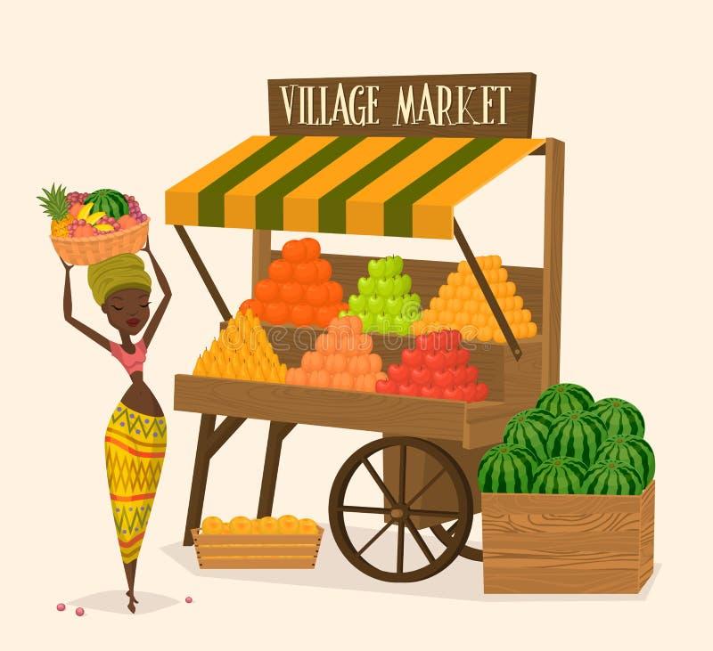 Lokale landbouwerswinkelier royalty-vrije illustratie