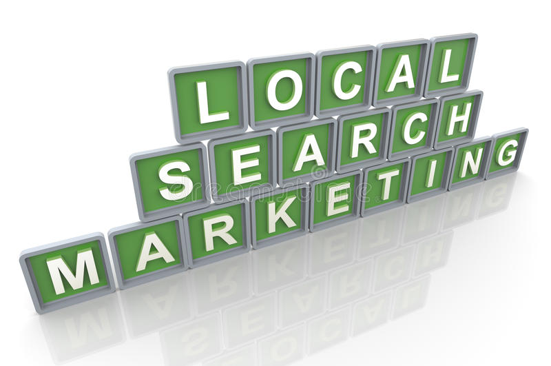Lokale onderzoek marketing royalty-vrije illustratie