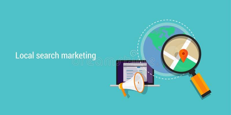 Lokale onderzoek marketing stock illustratie