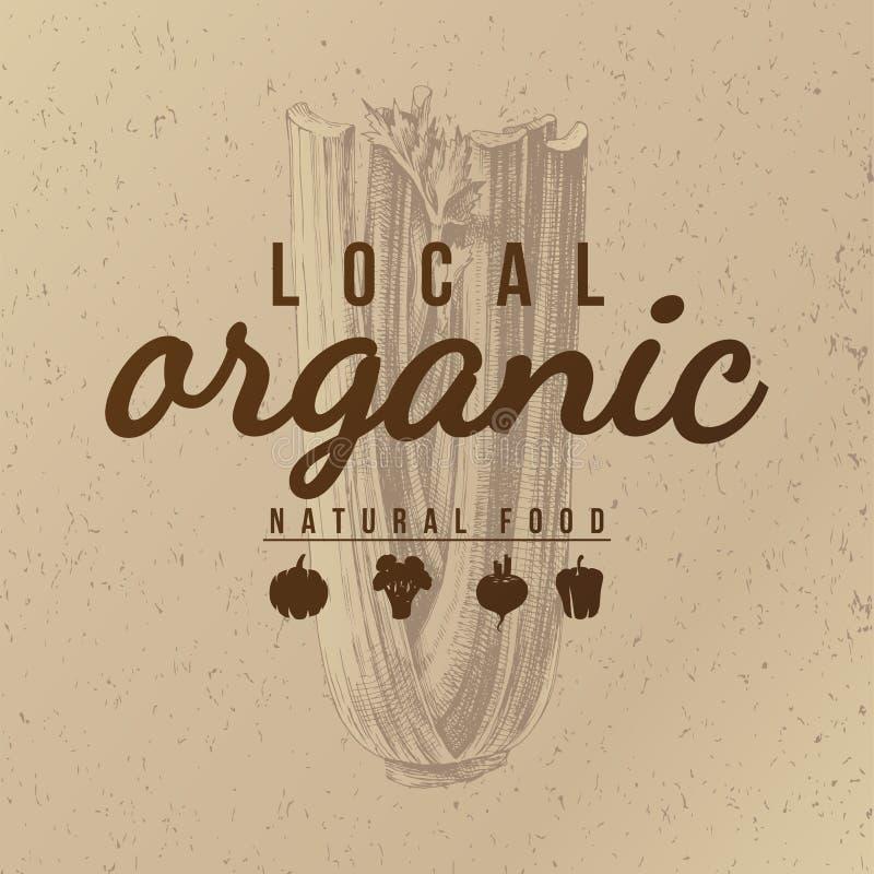 Lokale organische natuurvoedingachtergrond stock illustratie