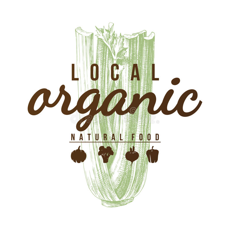 Lokale organische natuurvoedingachtergrond royalty-vrije illustratie