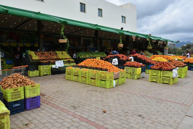Lokale Produkte auf Markt in Zypern lizenzfreie stockfotografie