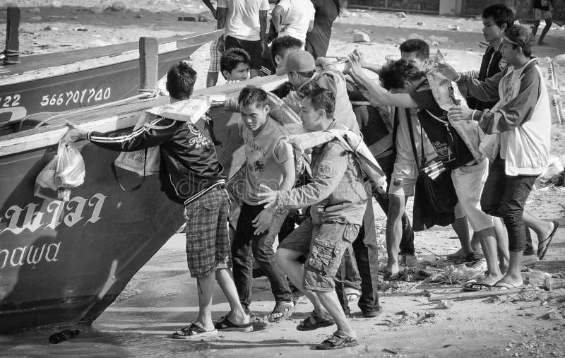 Lokale Scènes van de Stranden van Thailand - Pattaya royalty-vrije stock afbeeldingen