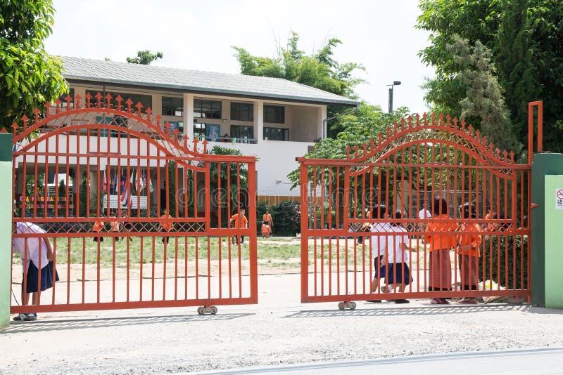 Lokale school NongKrai stock afbeelding