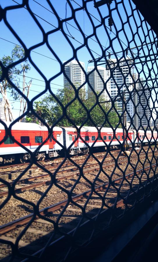 Lokale trein in Mumbai royalty-vrije stock fotografie