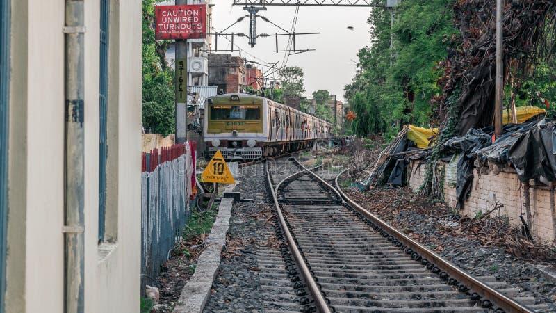 Lokale Treinen van Indische Spoorwegen stock afbeeldingen
