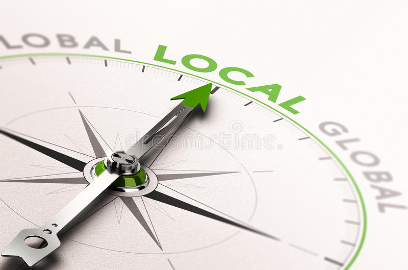 Lokale Zaken of de Dienst stock illustratie