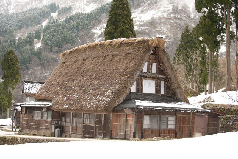 lokalen för det arvhusjapan taket thatched världen arkivfoton
