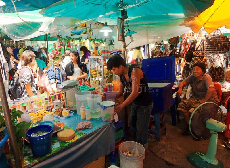 Lokaler Lebensmittelmarkt, Bangkok stockfoto