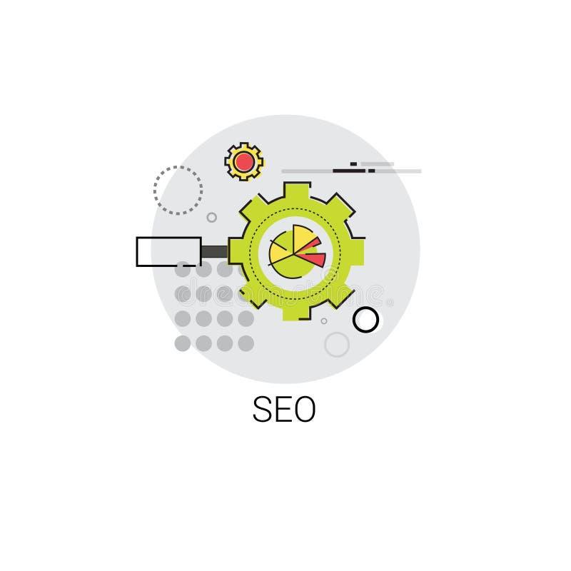 Lokaler Seo Keywording Search Icon stock abbildung