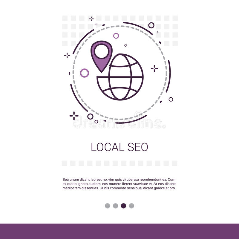 Lokaler Seo Keywording Search Web Banner mit Kopien-Raum vektor abbildung
