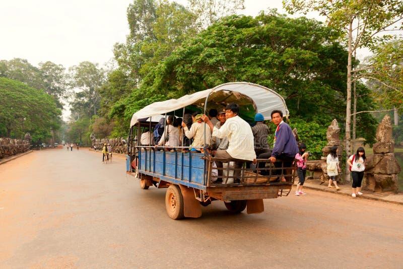 Lokaler Transport in Kambodscha lizenzfreies stockbild