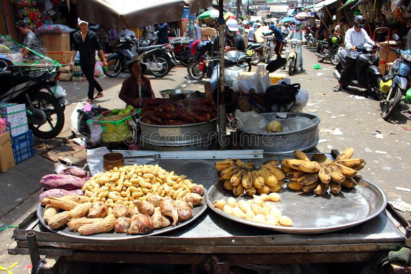 Lokales Gemüse auf Markt in Ho Chi Minh City lizenzfreie stockbilder