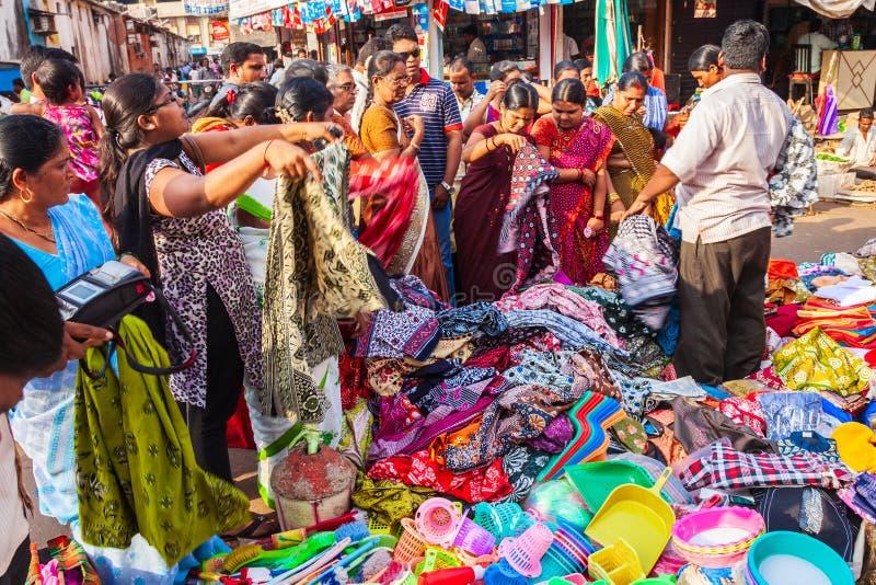 Lokales Markteinkaufen in Indien lizenzfreies stockfoto