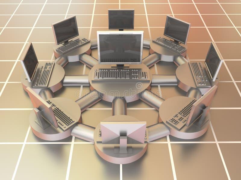 Lokales Netzwerk (LAN) lizenzfreie abbildung