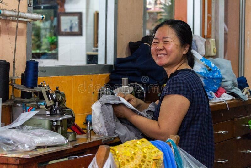 Lokales sewet Bangkok Thailand stockfotos