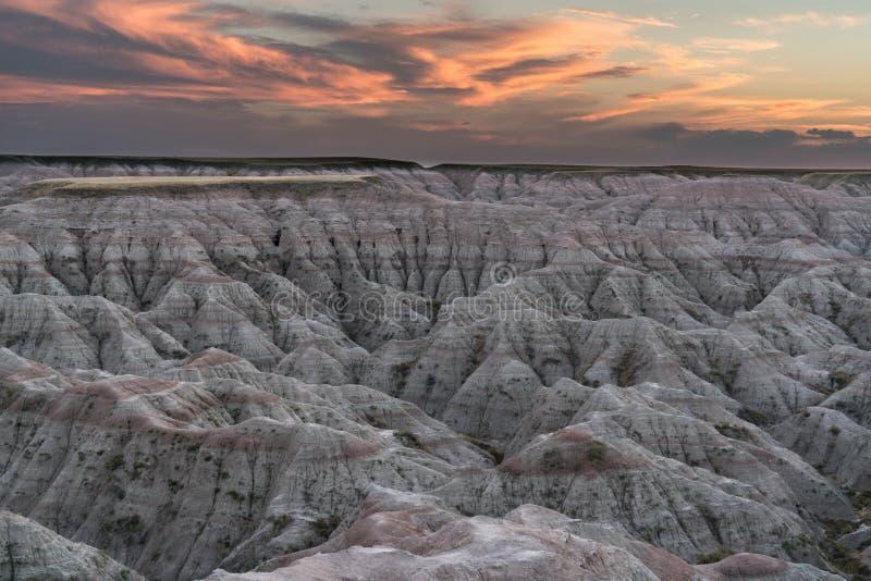 Lokaliserat i sydvästliga South Dakota, Badlandsnationalpark royaltyfri fotografi