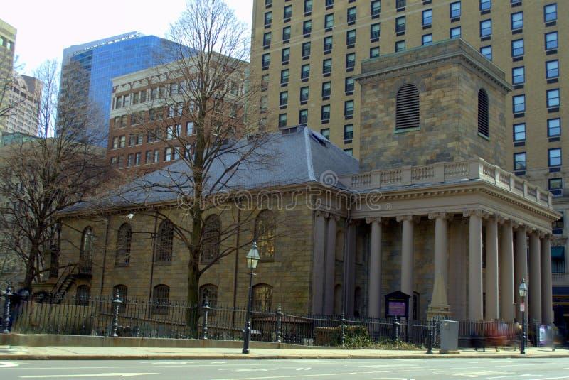 Lokaliserat på den Boston för kapell för ` s för frihetsslingakonung MODERN arkivbilder