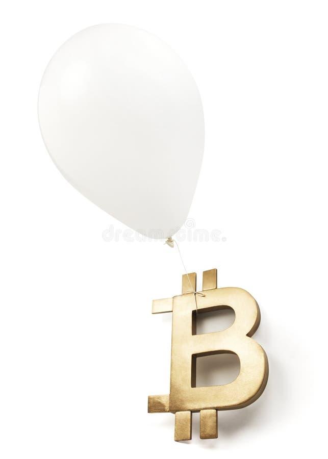 Lokalisierte Bitcoin-Blase auf Weiß stockfotografie
