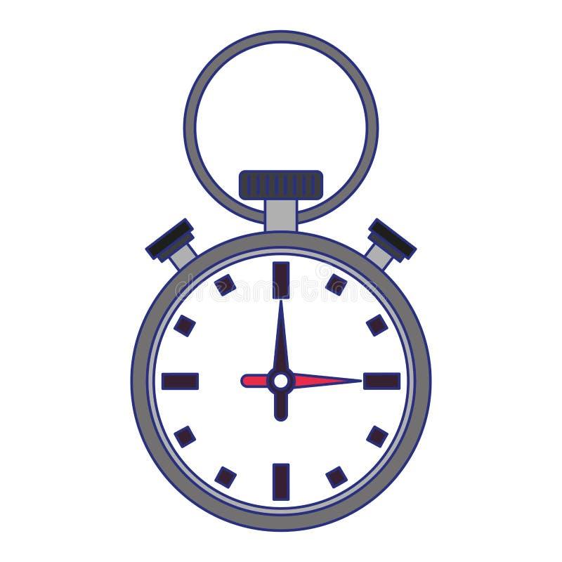 Lokalisierte blaue Linien des Sportchronometers Symbol lizenzfreie abbildung