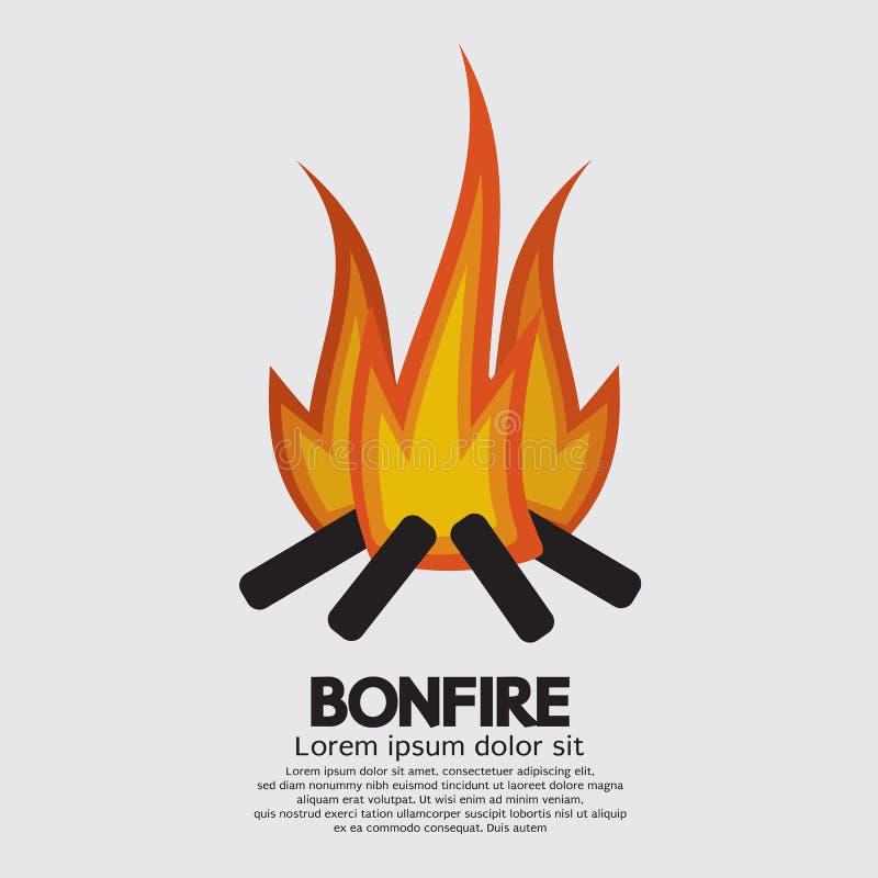 Lokalisierte Feuer-Grafik lizenzfreie abbildung
