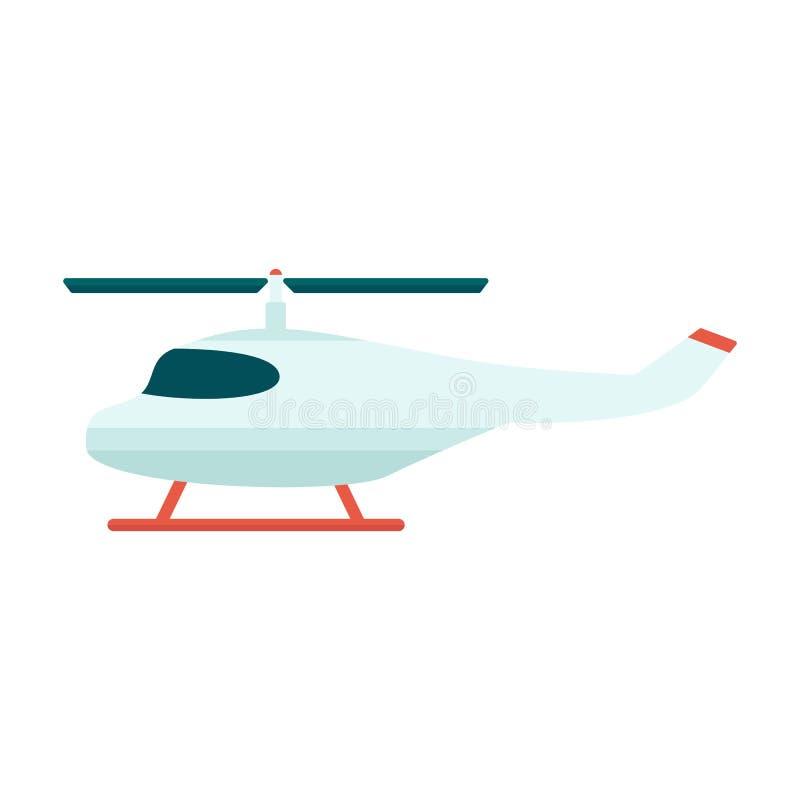 Lokalisierte flache Vektorillustration der Rettung oder der touristischen Propellerhubschrauberikone stock abbildung