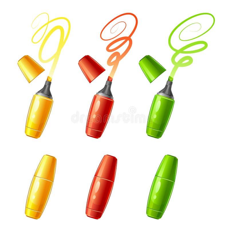 Lokalisierte Gegenstände auf weißem Hintergrund lizenzfreie abbildung