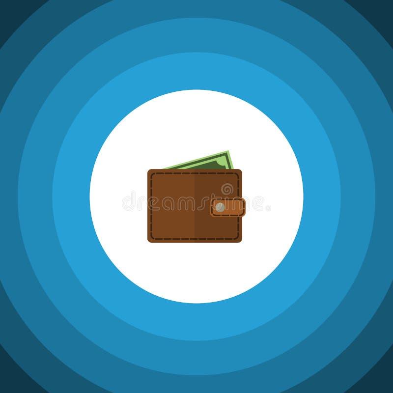 Lokalisierte Geldbörsen-flache Ikone Brieftasche-Vektor-Element kann für Taschenbuch, Geldbörse, Brieftasche-Konzept des Entwurfe vektor abbildung