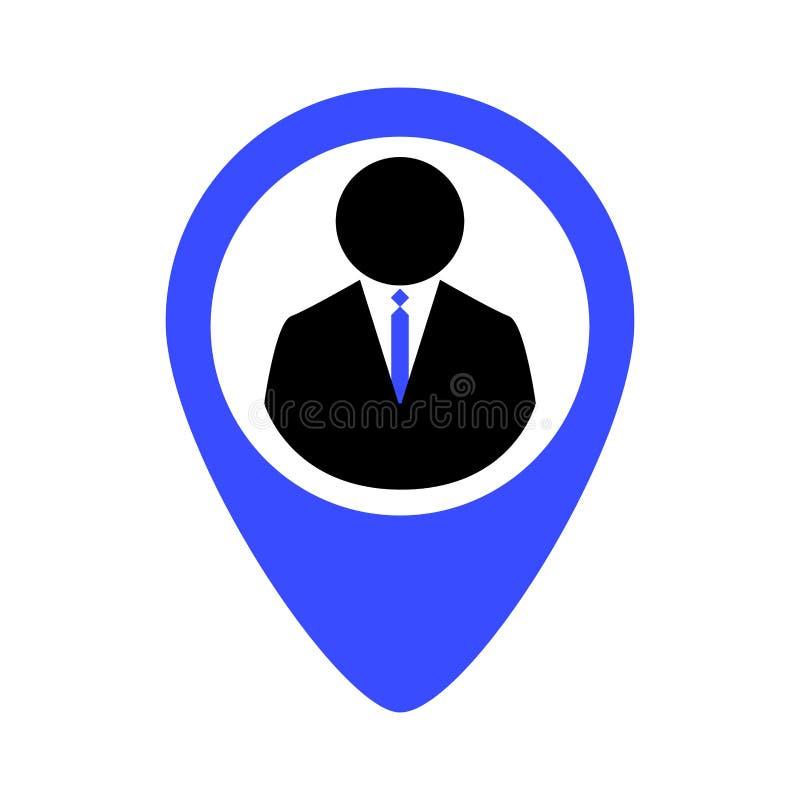 Lokalisierte Geschäftsikone lizenzfreie abbildung