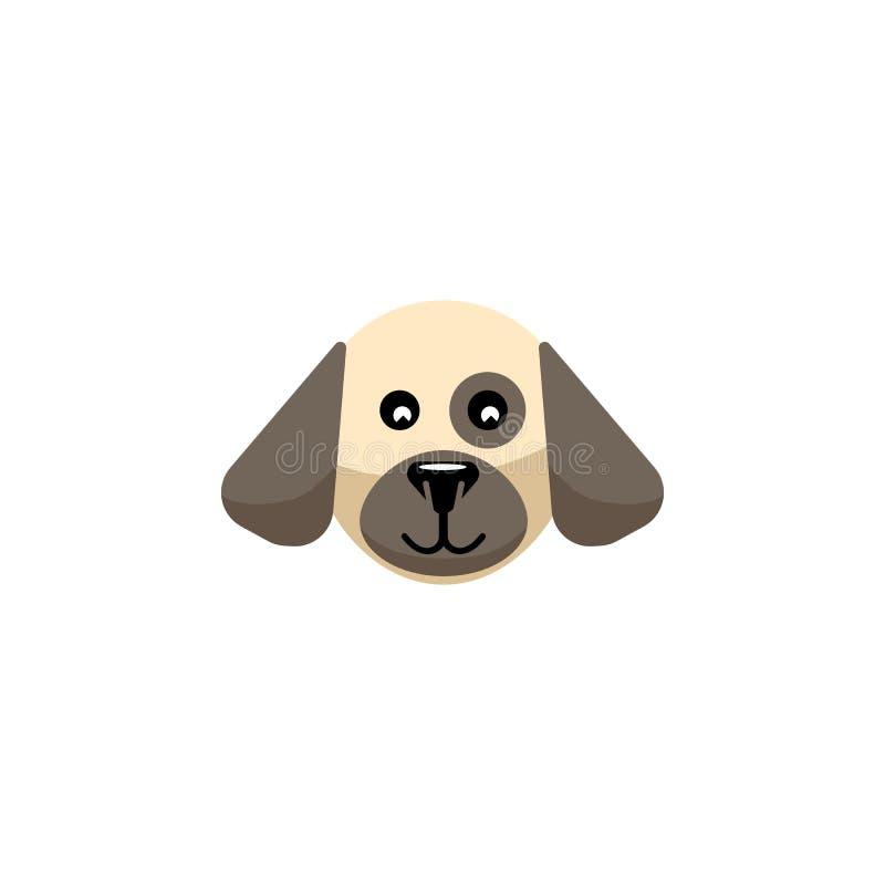 Lokalisierte Hundeflache Ikone Welpen-Vektor-Element kann für Hund, Welpe, Jagdhund-Konzept des Entwurfes benutzt werden stock abbildung
