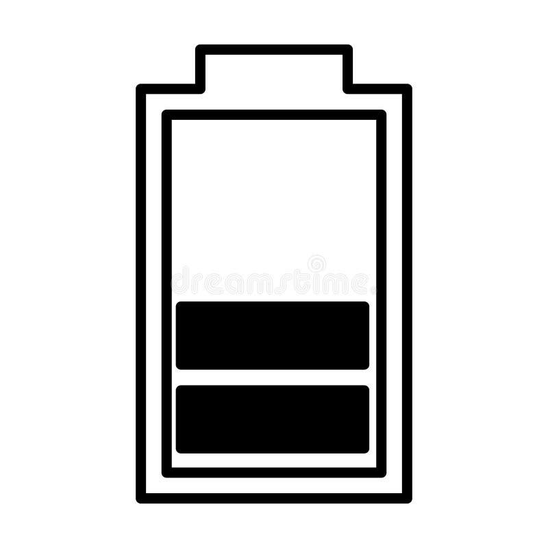 Lokalisierte Ikone Der Batterie Symbol Stock Abbildung ...