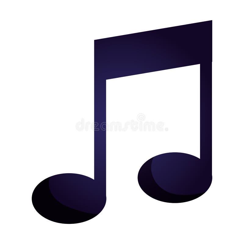 Lokalisierte Ikone der Musik Anmerkung lizenzfreie abbildung
