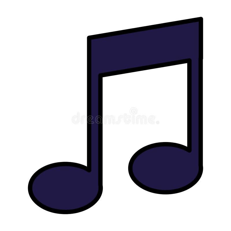 Lokalisierte Ikone der Musik Anmerkung stock abbildung