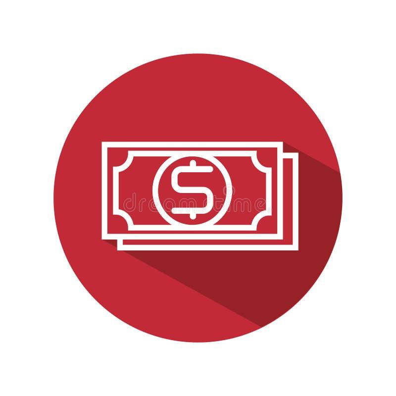 lokalisierte Ikone der Rechnung Bargeld vektor abbildung