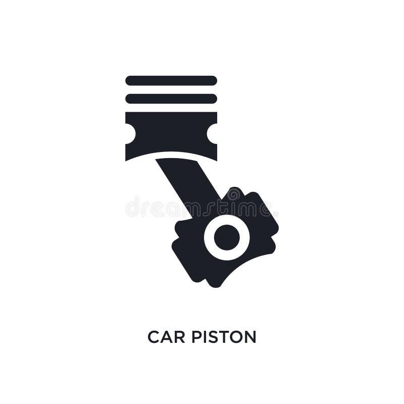 lokalisierte Ikone des Autos Kolben einfache Elementillustration von den Autoteil-Konzeptikonen Logozeichen-Symbolentwurf des Aut lizenzfreie abbildung