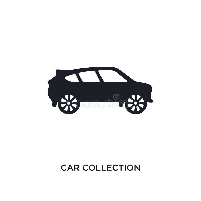 lokalisierte Ikone des Autos Sammlung einfache Elementillustration von den Luxuskonzeptikonen Logo-Zeichensymbol der Autosammlung vektor abbildung
