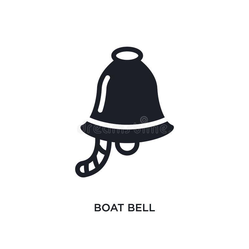 lokalisierte Ikone des Bootes Glocke einfache Elementillustration von den Seekonzeptikonen Logozeichen-Symbolentwurf der Bootsglo vektor abbildung