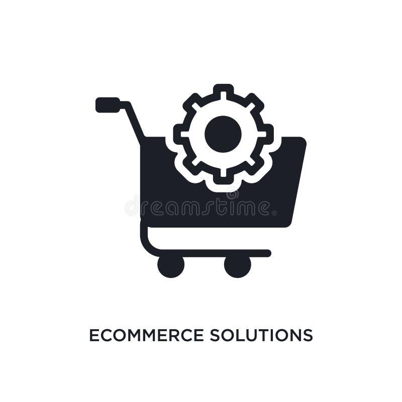 lokalisierte Ikone des elektronischen Geschäftsverkehrs Lösungen einfache Elementillustration von den Ikonen des Konzeptes genera stock abbildung