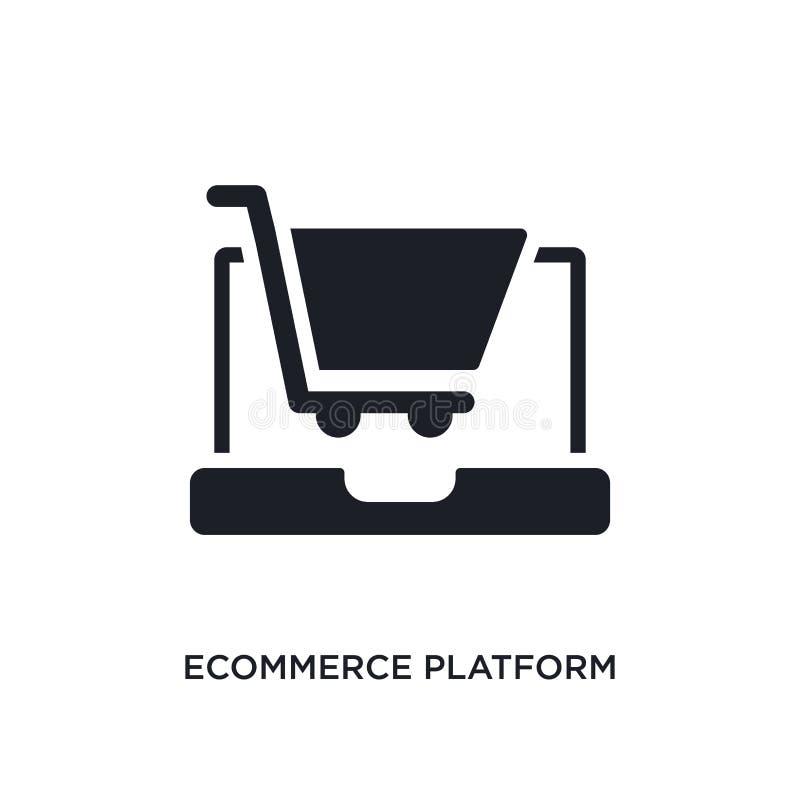 lokalisierte Ikone des elektronischen Geschäftsverkehrs Plattform einfache Elementillustration von den Ikonen des Konzeptes gener lizenzfreie abbildung