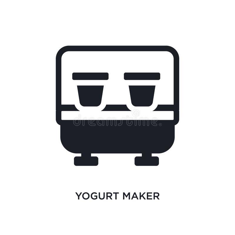 lokalisierte Ikone des Joghurts Hersteller einfache Elementillustration von den Küchenkonzeptikonen Logozeichen-Symbolentwurf des stock abbildung