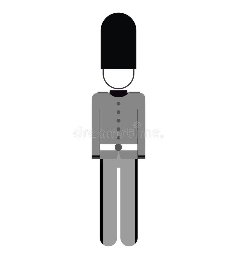 Lokalisierte Ikone Englands Soldat vektor abbildung