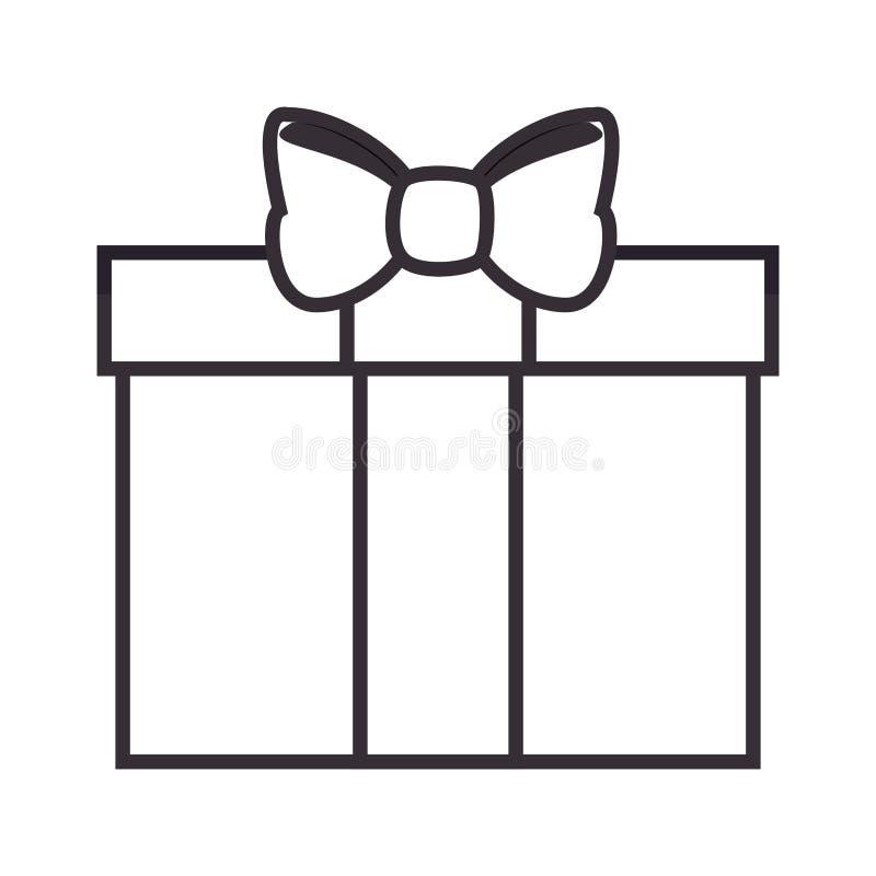 Lokalisierte Ikone Giftbox Geschenk vektor abbildung