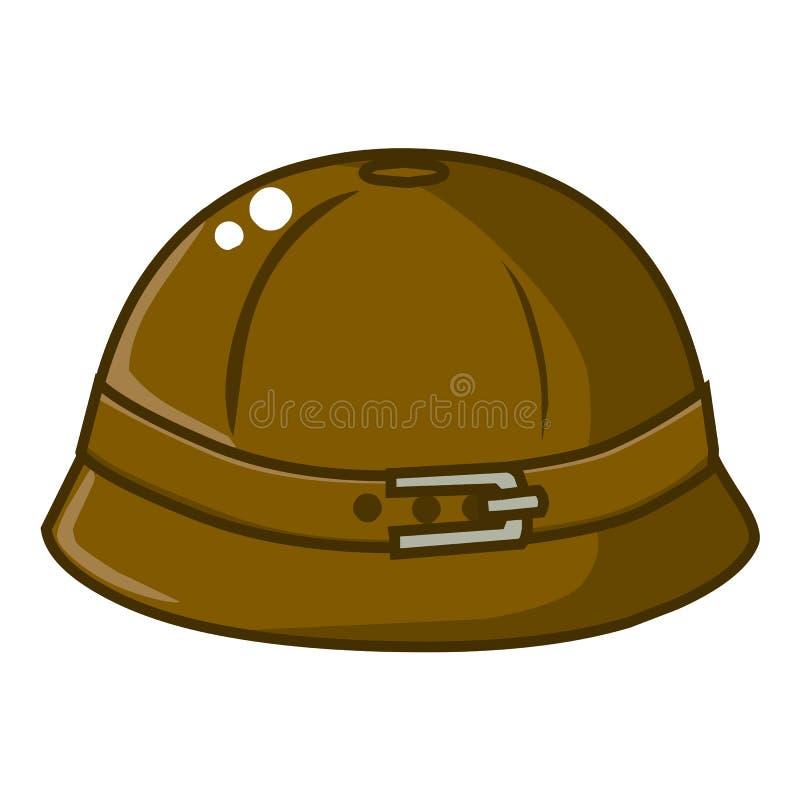 Lokalisierte Illustration des Eimers Hut lizenzfreie abbildung